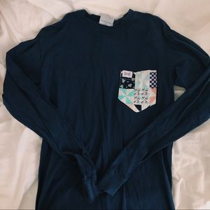 Fraternity Collection Patchwork Pocket T-Shirt